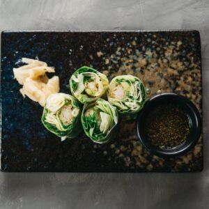 Amami Sushi Vietnamese Rice Paper Tiger Prawn Rolls